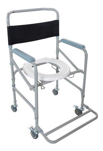 Imagem 1 de 9 de Cadeira De Rodas Higiênica Dobrável Aço D40 Dellamed (100kg)