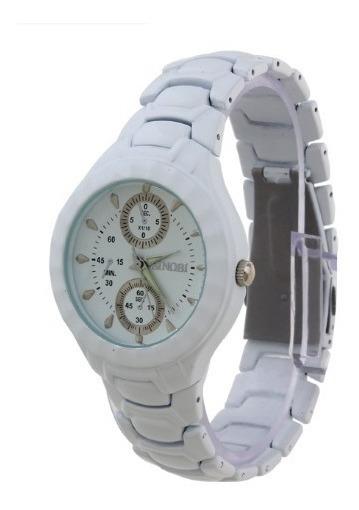Relógio Sinobi 3945 Aço Inoxidável, Analógico Impermeável