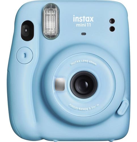 Imagem 1 de 1 de Câmera Fujifilm Instax Mini 11 Azul + Pack C/10 Fotos Black
