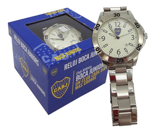 Reloj Metalico C/fecha C/caja Boca Juniors