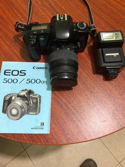 Cámara Canon Profesional Eos 500 Poco Uso
