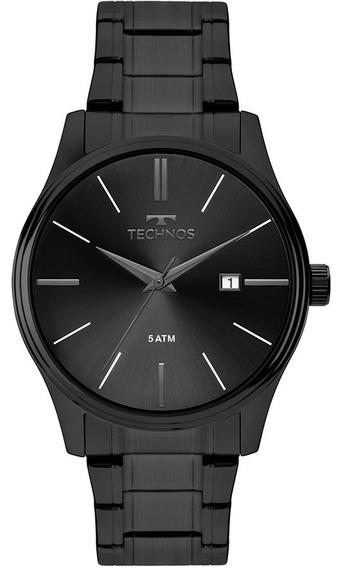 Relógio Technos Masculino Classic 2115mpo/4p Aço Preto