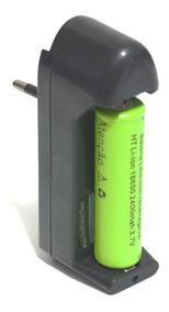 Kit Carregador De Bateria De Litio + Bateria 18650