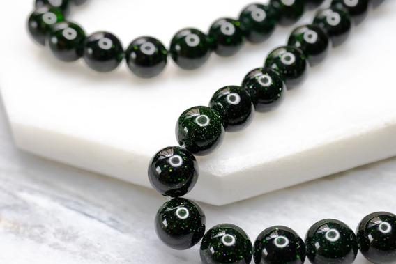 Green Goldstone - Piedra Natural Para Bisutería/pulseras