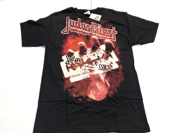 Playera Negra Frupo Judas Priest Navaja Alemana Hottopic