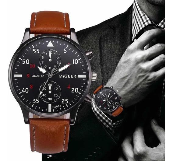 Relógio Masc Retro Analógico Quartz Migeer