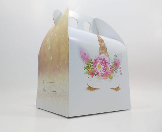 Unicornio Dorado - Cajita Feliz - X25 Unidades