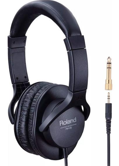 Fone De Ouvido Rh5 Roland Headphone Rh 5 - Original C/ Nf