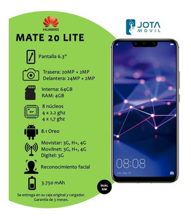 Huawei Mate 20 Lite (250 Vrds)