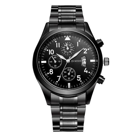 Relógio Masculino Luxo Original Importado Quartzo Aço