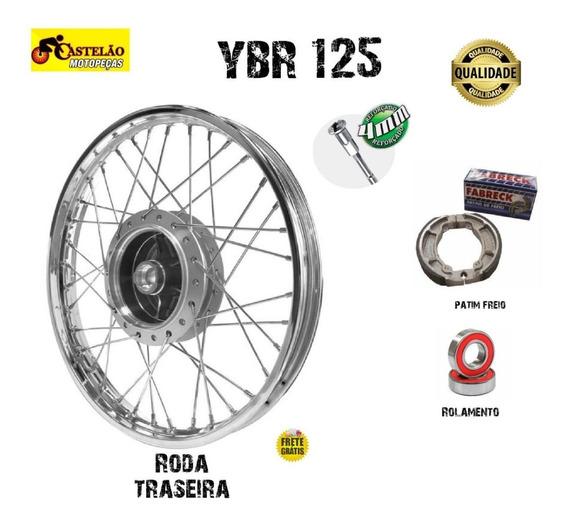 Aro Roda Traseira Ybr-factor 125 +rolamentos + Patim