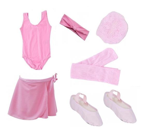 Roupa Ballet Bailarina Kit Uniforme Aula Juvenil 10 A 16