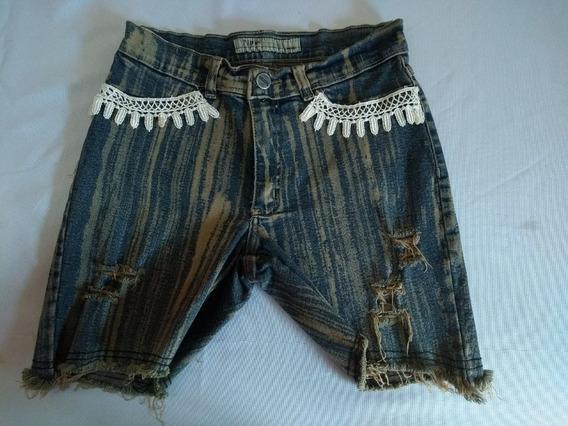 Shorts Em Jeans Detalhes Nos Bolsos Ref Ss 208