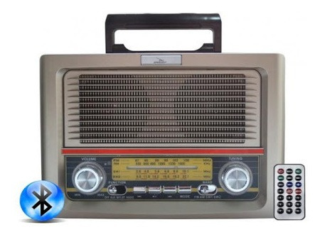 Rádio Retrô Vintage Bluetooth 10w Rms Am/fm/sw/usb