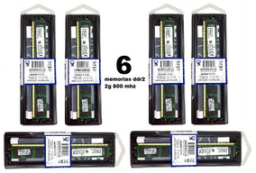 Kit 6 Memorias Ram Kingston Ddr2 2g 800mhz Amd Frete Gratis