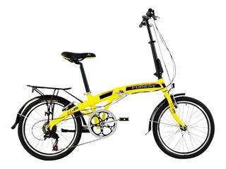 Bicicleta Plegable Forest Rodado 20 Cambios Shimano Aluminio
