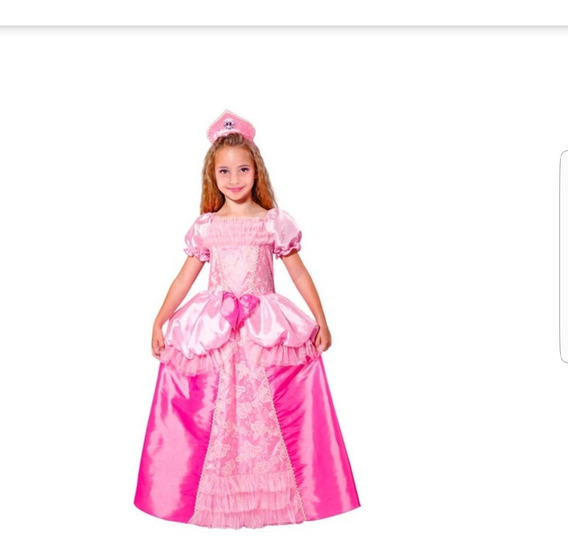 Disfraz Niña Princesa Talla 7 A 10 Años Carnaval Fiesta