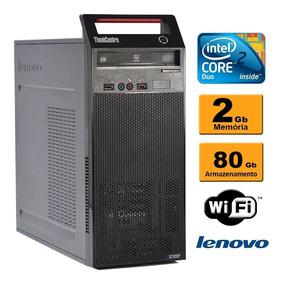 Cpu Lenovo Torre A70 Core 2 Duo 2.6 2gb Ddr3 Hd 80gb Rw Wifi