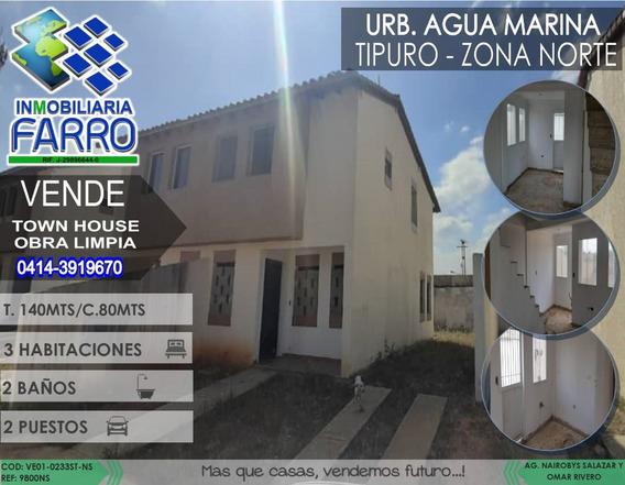 Venta De Town House En Tipuro Ve01-0233st-ns