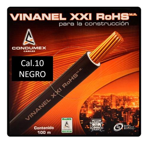 Caja 100 Mts Cable Negro Thw Cal 10 Awg Condumex Vinanel