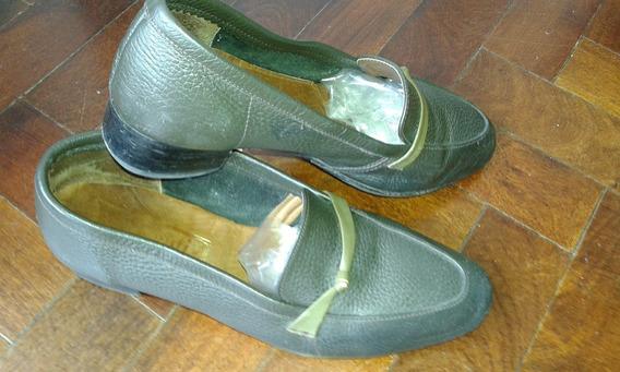 Mocasines Zapatos Benti Dama Mujer Nº 40 Cuero Mb Estado