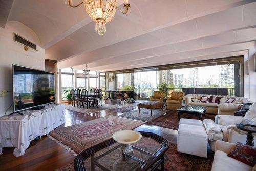 Venda Apartamento Brooklin Com 4 Quartos (suítes). 360m², Terraço, 4 Vagas. Rua Roque Petrella 335 - Brooklin Velho. - Ap3943