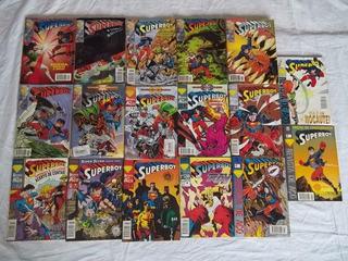 Hq Lote C/ 17 Gibis Superboy Revista De Aço P56