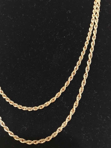 Colar Trancelim Ouro 18k/20 Microns- Antigo- 92 Cm- 14,70 G