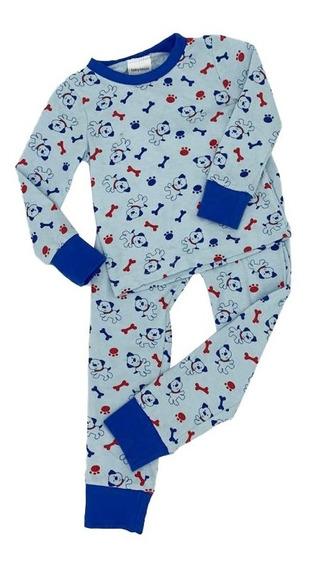 Pijama Algodon Con Tela Estampada Perritos