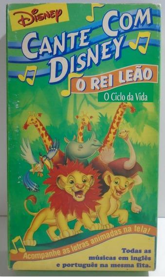 Fita Vhs O Rei Leão - O Ciclo Da Vida Cante Com Disney