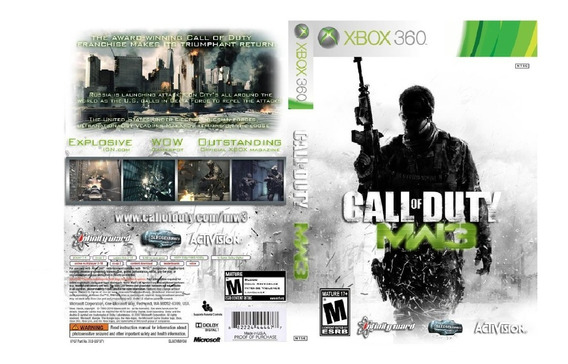 Call Of Duty Mw3 Pra Xbox 360 Destravado Lt 3.0