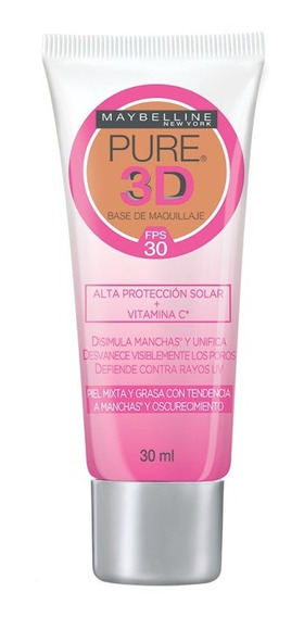 Base Maquillaje Pure 3d Rostro Maybelline