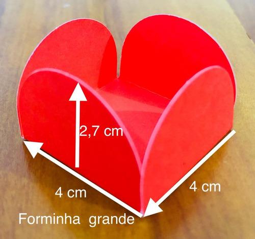 Imagem 1 de 10 de Kit 1000 Forminhas 4 Pétalas Grande 4 Cm Festa