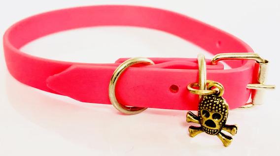 Kingpet Collar De Caucho, Extra Chico, Color Rosa