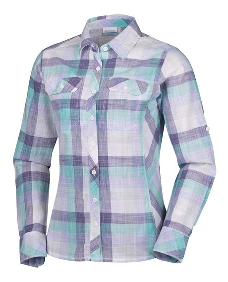 Camisa Columbia Dama Camp Henry Long Sleeve Shirt