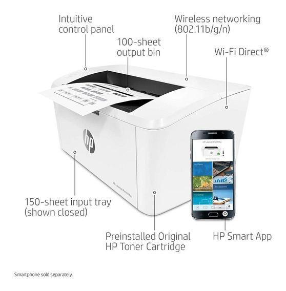 Impressora Hp Laserjet Pro M15w Wireless 110v Pronta Entrega