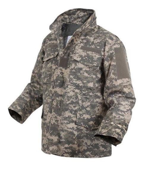 Chamarra Militar M65 Camuflaje Acu Con Parches Del Us Army