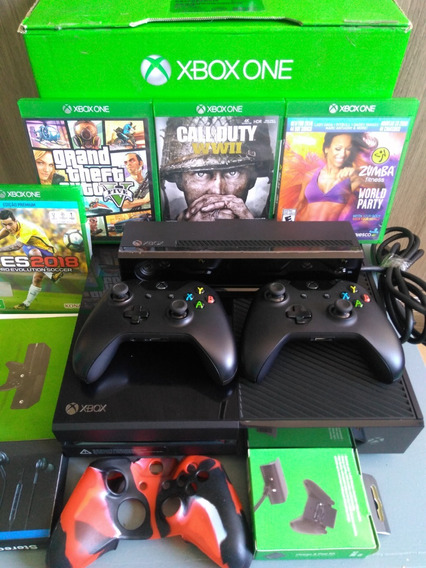 Xbox One 1tb Zero 2 Controle Kinct + Jogos + Brinde Barato