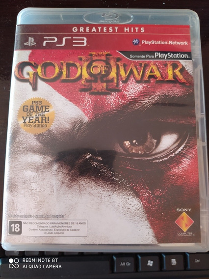 God Of War 3 Ps3 Mídia Física