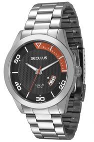 Relógio Masculino Analógico Seculus Calendário 28441g0svna1