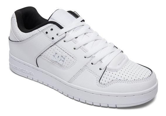 Zapatillas Dc Mod Manteca Se Blanca Cuero!!! Coleccion 2019