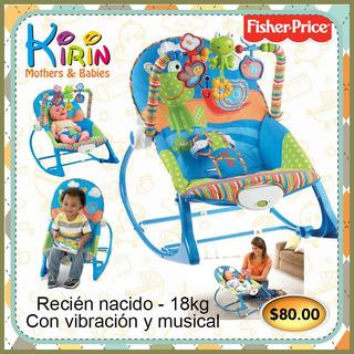 Kirin Silla Mecedora Vibración Musical Bebé Fisher Price