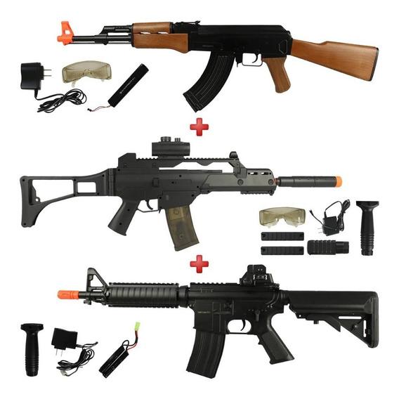 Rifles Fuzil Aeg Cyma Ak-47 Cm022 + G36 Cm021 + M4 Cqb Cm176