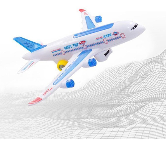 Avião A380 Grande 30 Cm Musical C/ Luzes - Bate-volta Barato