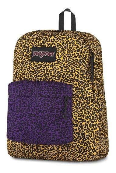 Mochila Jansport Original Superbreak 25l Yellow Leopard Life