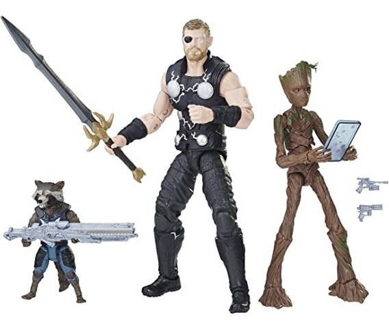 Figura Legends 6pol Thor Rocket E Groot