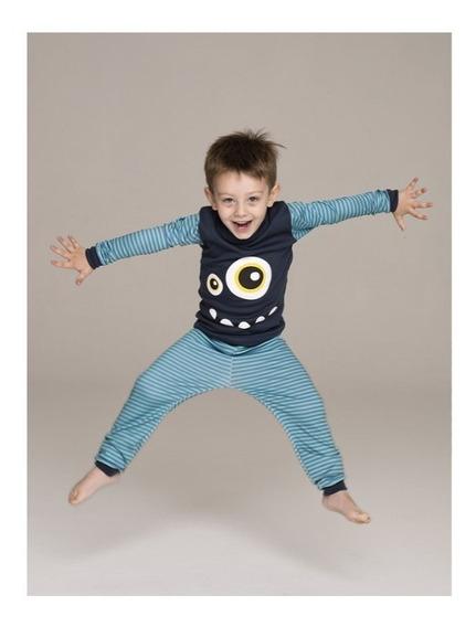 Pijama Niño Kids 100% Algodon Pantalon Con Puño - Art 8090 J
