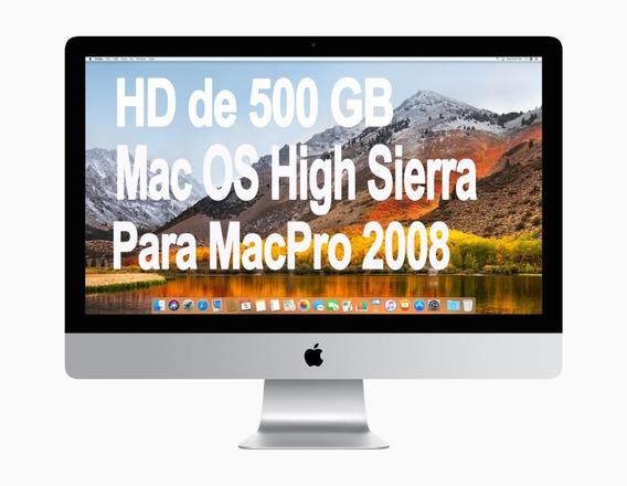 Hd 500gb Com High Sierra Para Macpro 2008