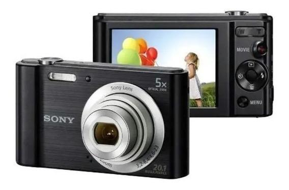 Câmera Digital Sony W800 Prata Nova Envio Imediato