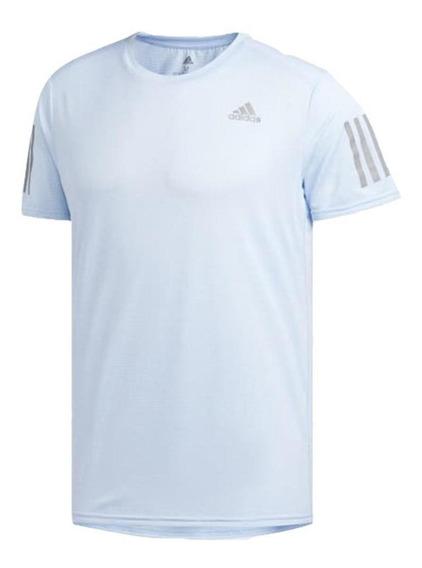 adidas Camiseta Response Cooler Hombre - Azul/gris